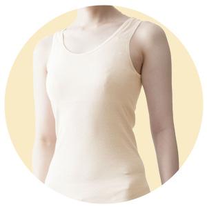 綿100% カップ付きタンクトップ 日本製